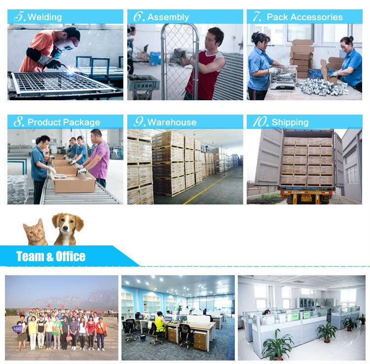 outdoor large galvanized dog kennel manufacturer low price