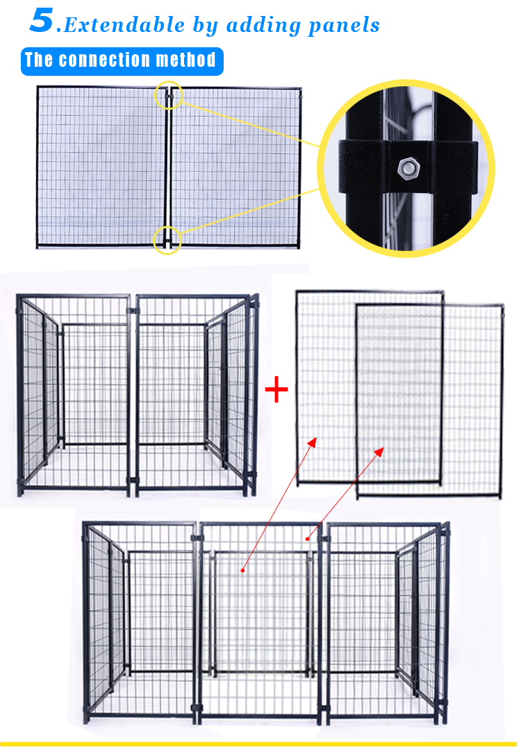 Large outdoor dog kennel factory