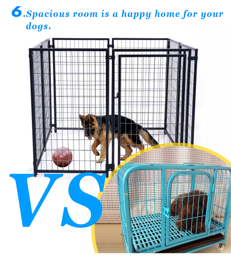 Large heavy duty metal dog kennel factory wholesale