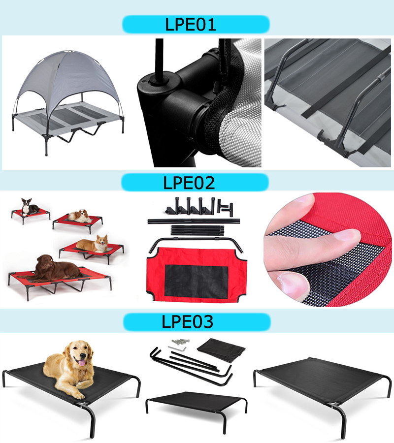 Factory wholesale Metal elevated dog cot bed with replaceable cover