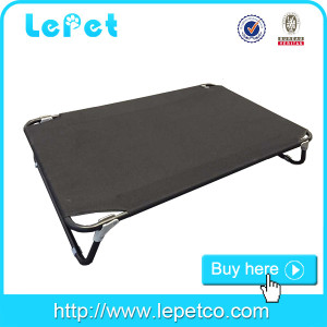 Factory wholesale Metal elevated dog cot bed with replaceable cover for camping travelling