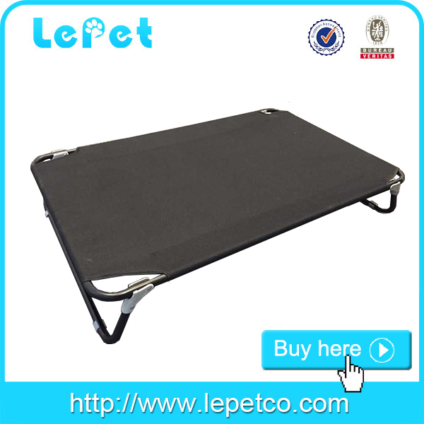 Factory wholesale Metal elevated dog cot bed with replaceable fabric for camping travelling