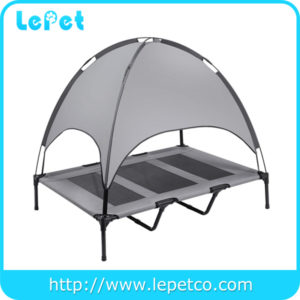 Waterproof Orthopedic Elevated Pet Bed Dog Camping Cot with Canopy Shade