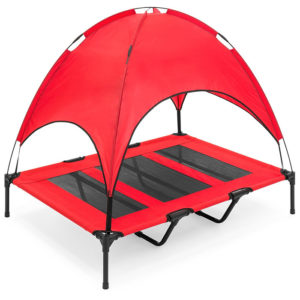 Manufacturer wholesale Orthopedic Elevated Dog bed Camping Cot with Canopy