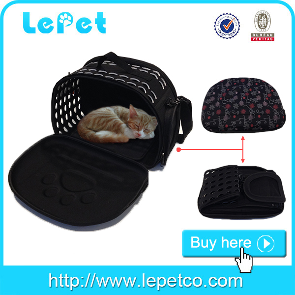 Manufacturer wholesale travel EVA foam portable pet carrier dog purse carrier