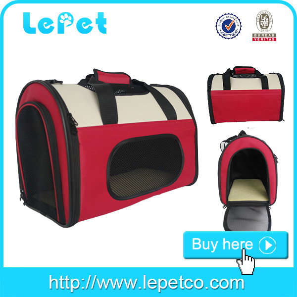 Soft dog travel crate soft sided pet carrier pet carrier bag wholesale pet carrier