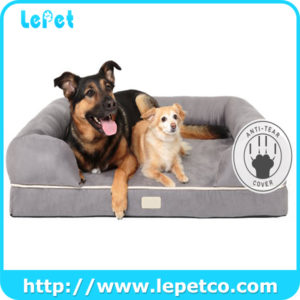 Wholesale Factory Soft Luxury Orthopedic Dog Bed Dog Sofa Pet Bed With Removable Cover