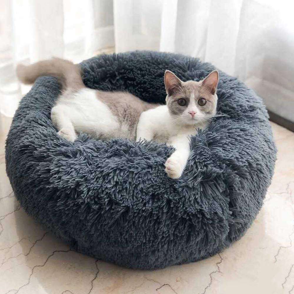 Factory wholesale pet bed soft cozy round pet bed for cats and dog