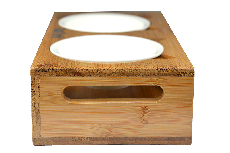 dp cat feeder bowl designs pet com set amazon elevated walnut supplies kmg food dog