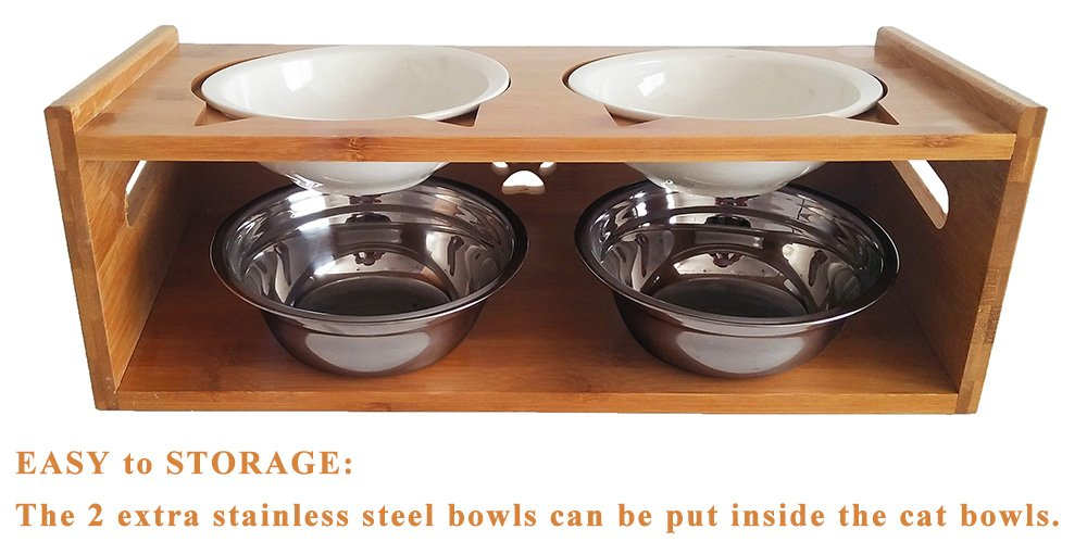 Cat Bowl with Elevated Stand