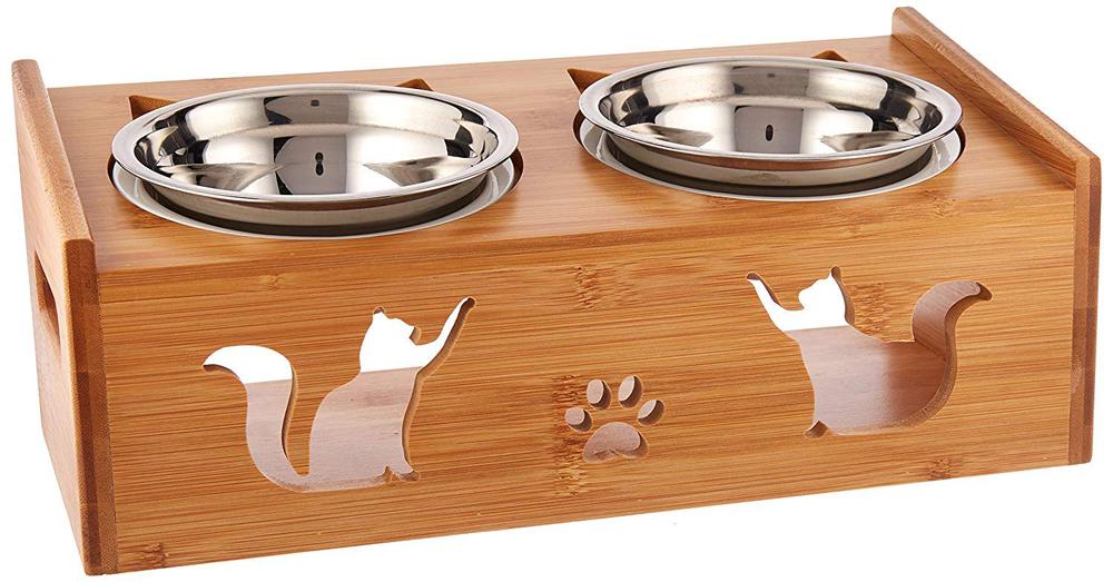 LePet Elevated Pet Feeder Ceramic Cat Bowl