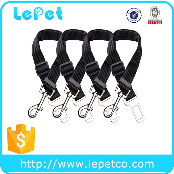 Car Automotive adjustable Nylon Fabric dog seatbelt dog car harness Pet Car Seat Belt