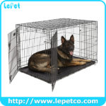 Double Door Metal Dog Crates Dog Kennel Cage