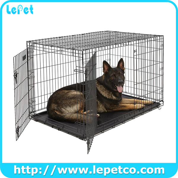 Single Door and Double Door Metal Dog Crates Dog Kennel Cage
