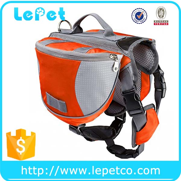Manufacturer wholesale adjustable Outdoor travel dog backpack dog saddlebag