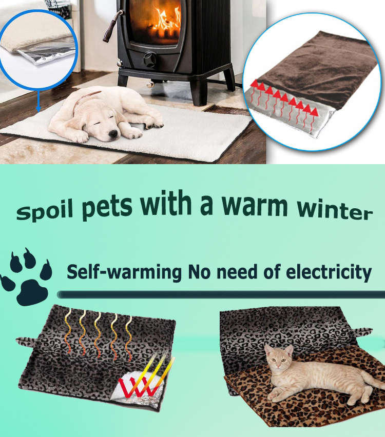 Thermal cat mat heated dog bed Thermal Pet Warming Bed