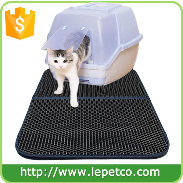 For amazon and ebay store wholesale supply Double Layer anti tracking cat trapper litter mat