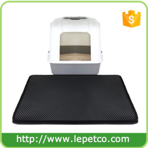 Manufacturer wholesale with Urine and Odor Repellent EVA foam double Layer Cat Litter Mat
