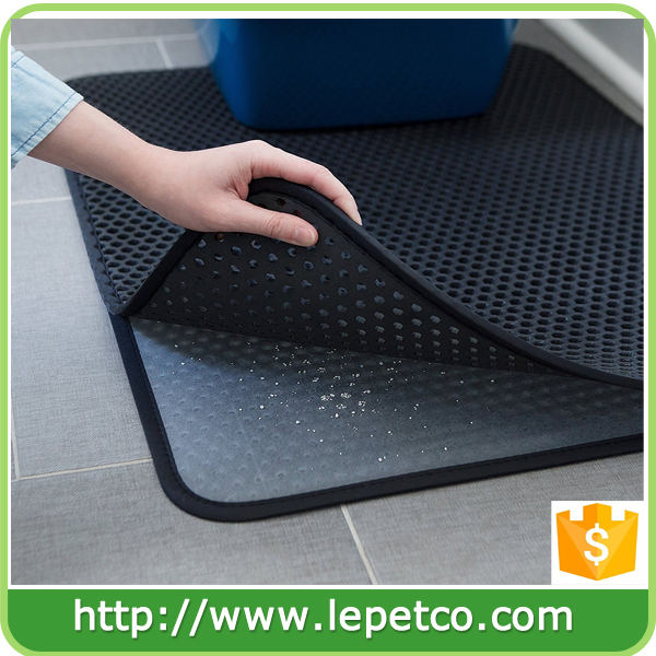 Hot sale on Amazon and ebay Lightweight WaterProof EVA foam litter box mat cat pet litter mat