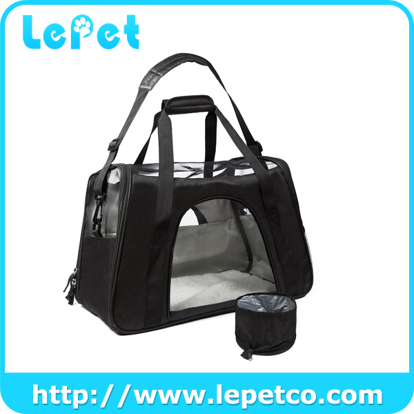 With Fleece Bedding Airline Approved Soft Sided Pet Dog Carrier Pet Travel Carriers