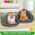 Manufacturer wholesale Custom logo soft warm cat cave felt cave cat bed