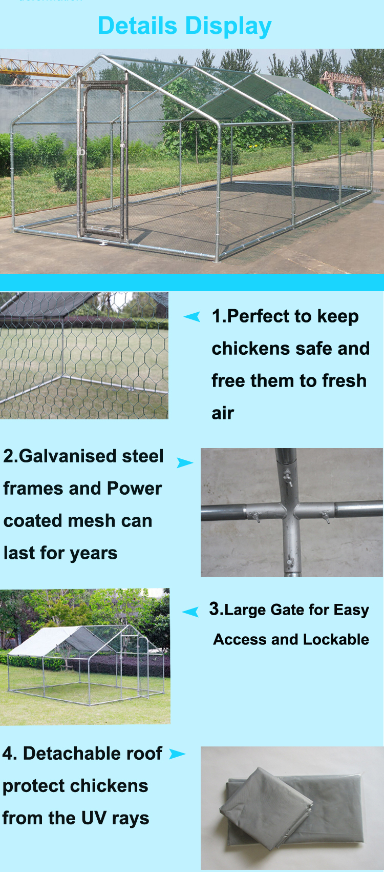 Metal chicken poultry farm equipment chicken cage chicken house