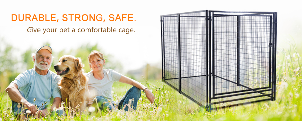 outdoor large galvanized dog kennel wholesale metal welded wire dog kennel