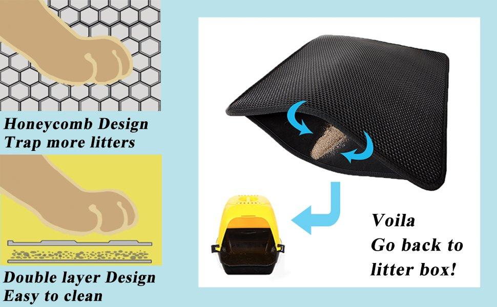 LePet ECO-friendly Double-Layer Cat Litter Mat