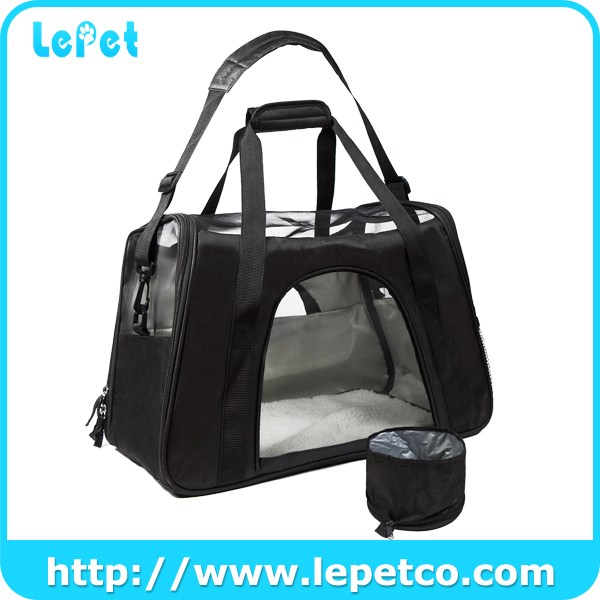 Manufacturer wholesale Pet Dog Cat Carrier Airline Approved foldable soft pet carrier