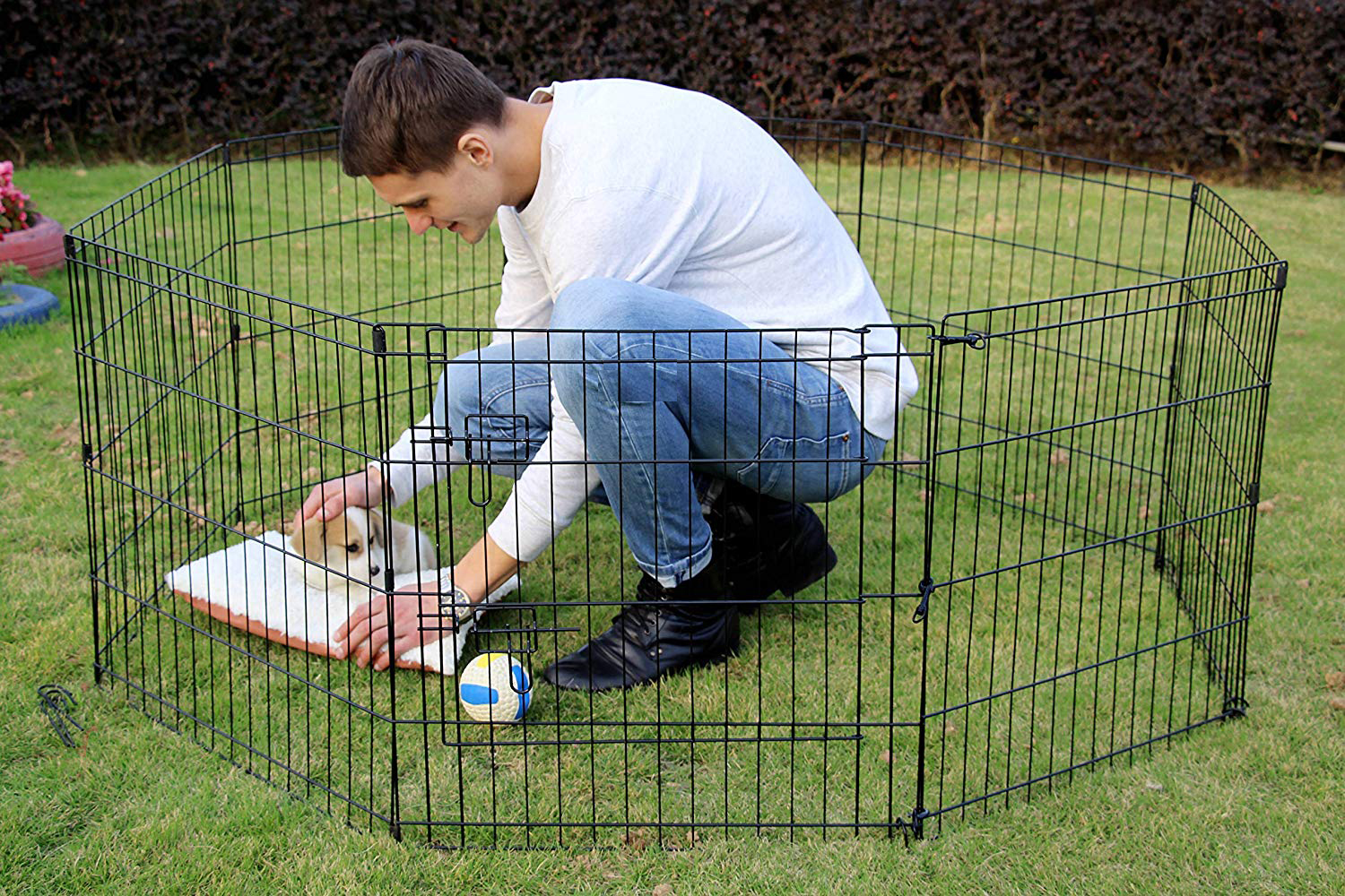 8 Panels Playpen for Dogs Pet Outdoor Exercise Playpen Fence
