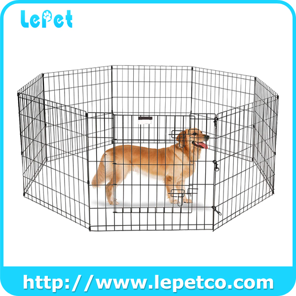 Folding Metal Dog Exercise Fence Pet Playpen Dog Exercise Playpen