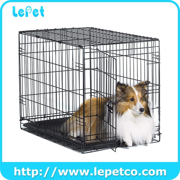 Single Door and Double Door Metal Dog Crates Dog Kennel Cage