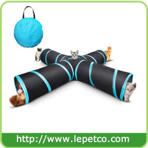 Collapsible 4 way cat play toy cat tunnel toy cat play tunnel