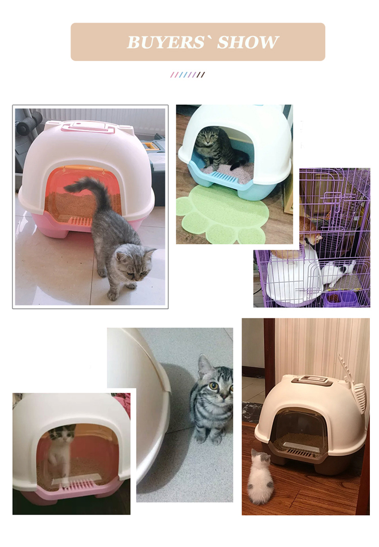 Hooded Cat Litter Pan Kit
