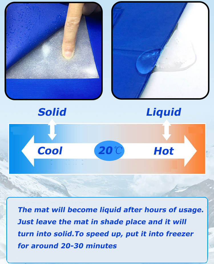 manufacturer wholesale re-usable gel sponge dog cooling mat cool gel pad