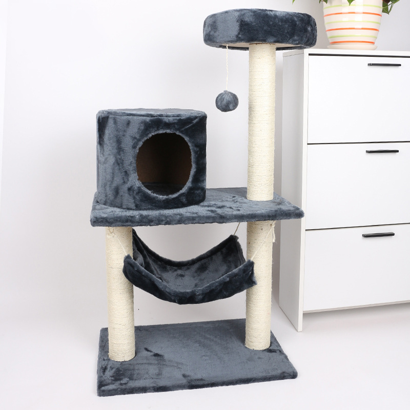 Multi-Level Cat Tree with Sisal-Covered Scratcher Posts Cat Tower Furniture