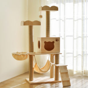 Manufacturer wholesale wooden cat tower furniture wood cat tree
