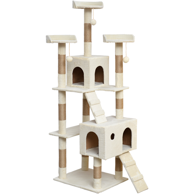Factory wholesale luxury cat tree house cat tree tower