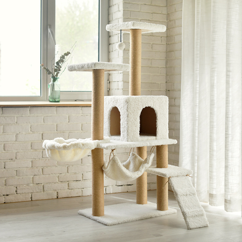 Manufacturer wholesale luxury cat tree house large cat tree condo
