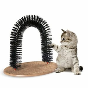 Factory wholesale cat arch self groomer cat massager groom toy