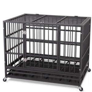 Heavy duty metal dog cage dog crate kennel and playpen for large dog