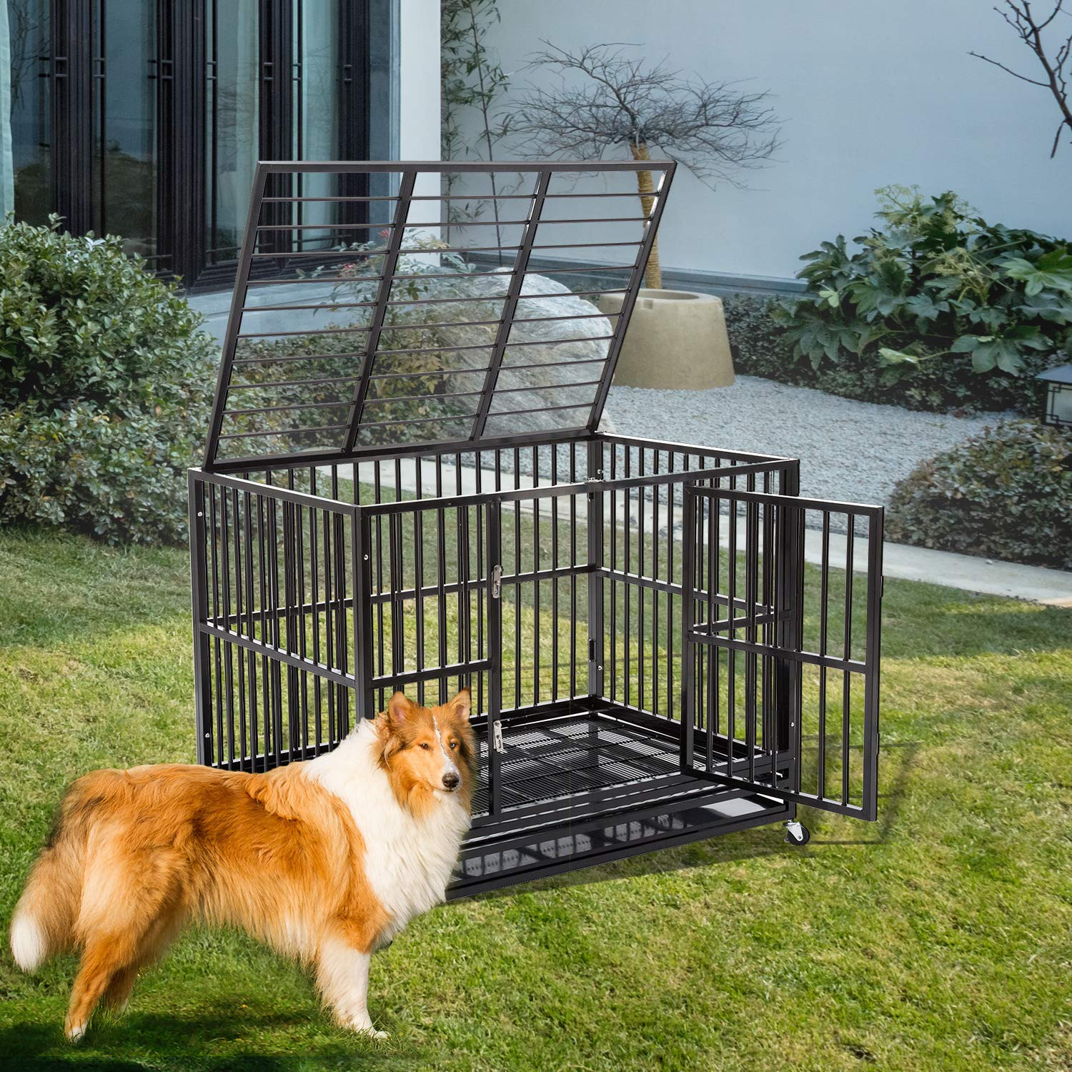 Heavy Duty Metal Dog Cage Dog Crate Kennel Dog Playpen