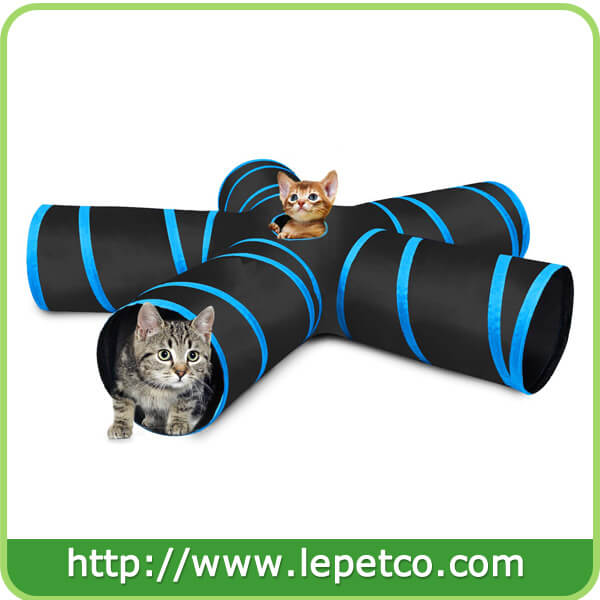 Interactive playing toy for cat tunnel tube foldable cat tunnel toy 5 ways collapsible cat tunnel tube