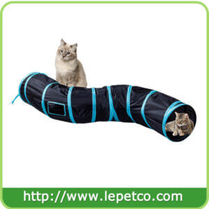 S way collapsible cat tunnel cat toy with ball pop-up cat tube hideaway cat play tunnel