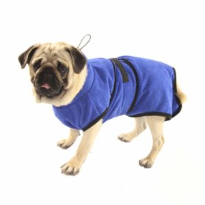 Fast drying dog bath robe  absorbent pet cat towel soft dog bath towel