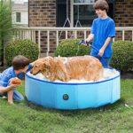Pools for Kids Portable Pet Swimming Pool Foldable Dog Pool Cat Bath Tub Wash Tub Pet Spa Pool