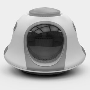UFO shape cat litter box with cat litter scoop UFO hooded cat litter pan