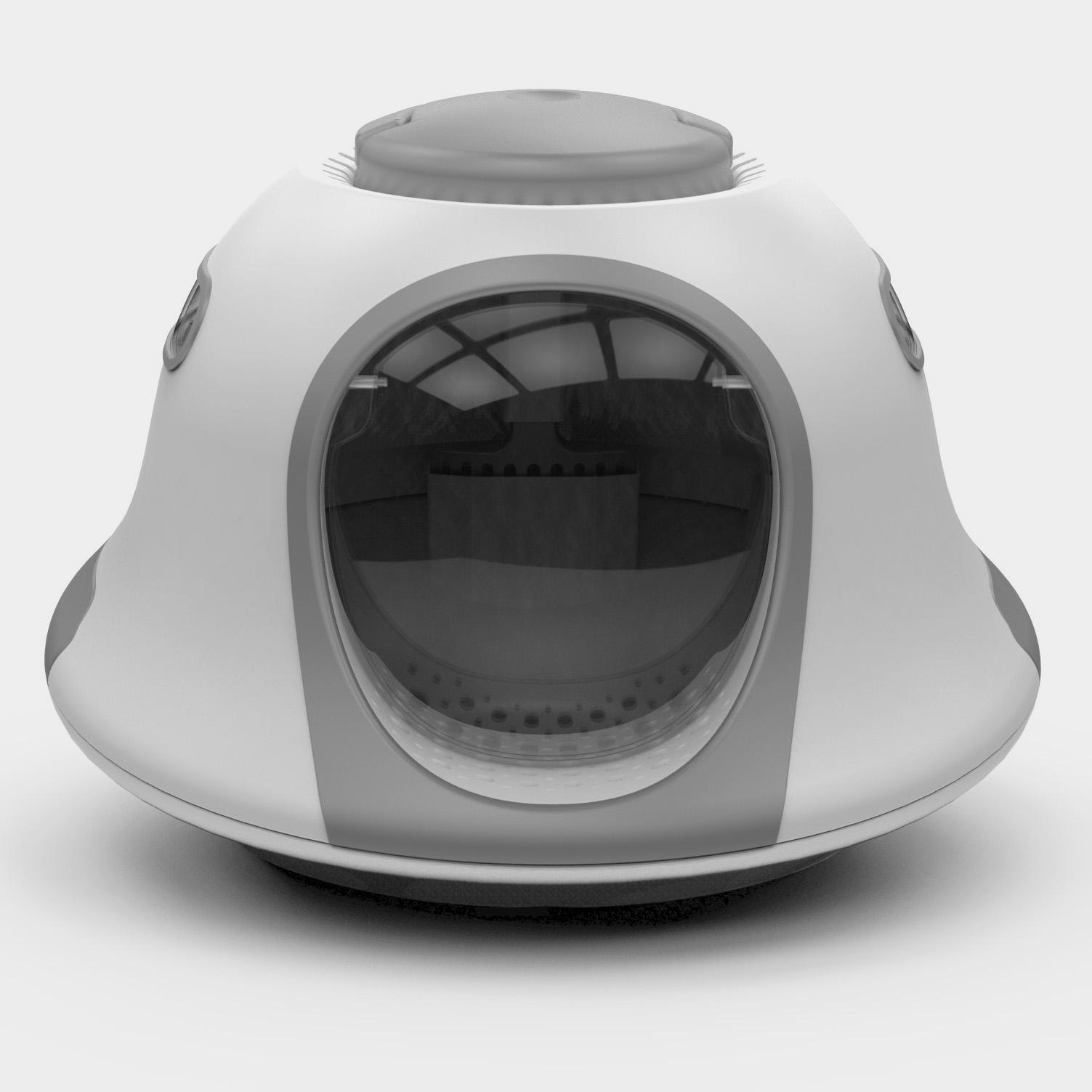 UFO shape cat litter box with cat litter scoop UFO hooded cat litter pan
