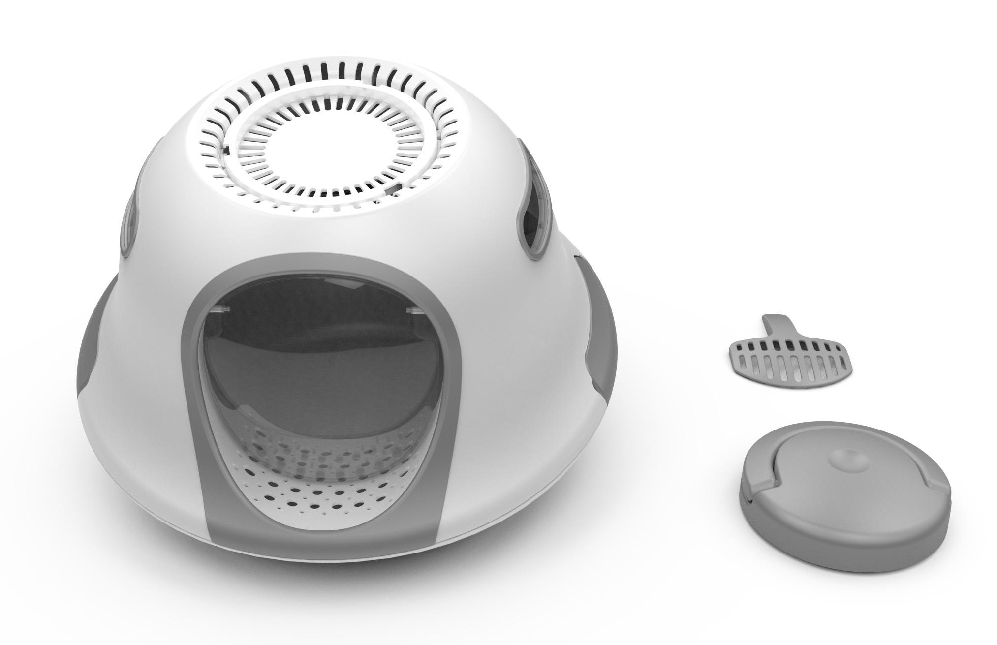 UFO hooded cat litter pan manufacturer