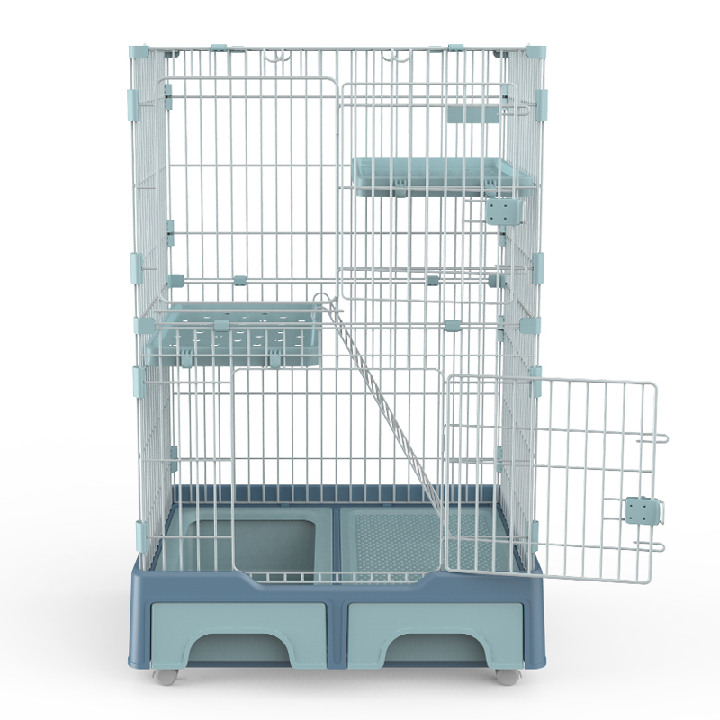 Large 3-Tier Cat Cage Playpen Cat Crate Kennel Foldable Metal Cat Playpen Factoty